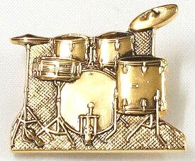NAKANO(ナカノ) ミニチュアブローチ/ドラムセット/ゴールド 「MM-80P/DR/G」 【送料無料】【smtb-KD】【RCP】:-p2