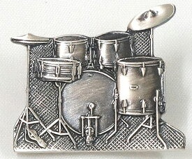 NAKANO(ナカノ) ミニチュアブローチ/ドラムセット/シルバー 「MM-80P/DR/S」 【送料無料】【smtb-KD】【RCP】:-p2