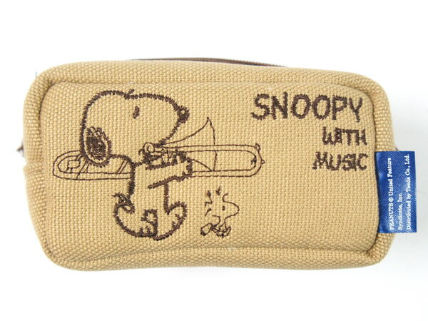 SNOOPY WITH MUSIC「SMP-TBBG」 トロンボーンマウスピースポーチ 1〜2本入 スヌーピー【送料無料】【smtb-KD】【RCP】:-p2