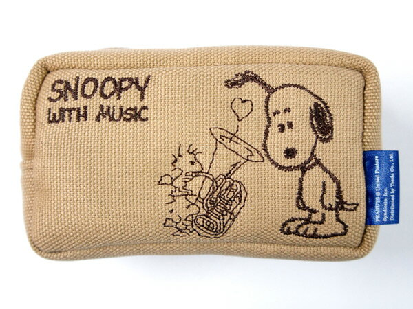 SNOOPY WITH MUSIC「SMP-TUBG」 チューバマウスピースポーチ 1〜2本入 スヌーピー【送料無料】【smtb-KD】【RCP】:-p2