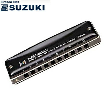 SUZUKI(鈴木楽器)10穴ハーモニカ HAMMOND HA-20 Key:C調【送料無料】【smtb-KD】【RCP】【楽ギフ_包装選択】【楽ギフ_のし宛書】:-as