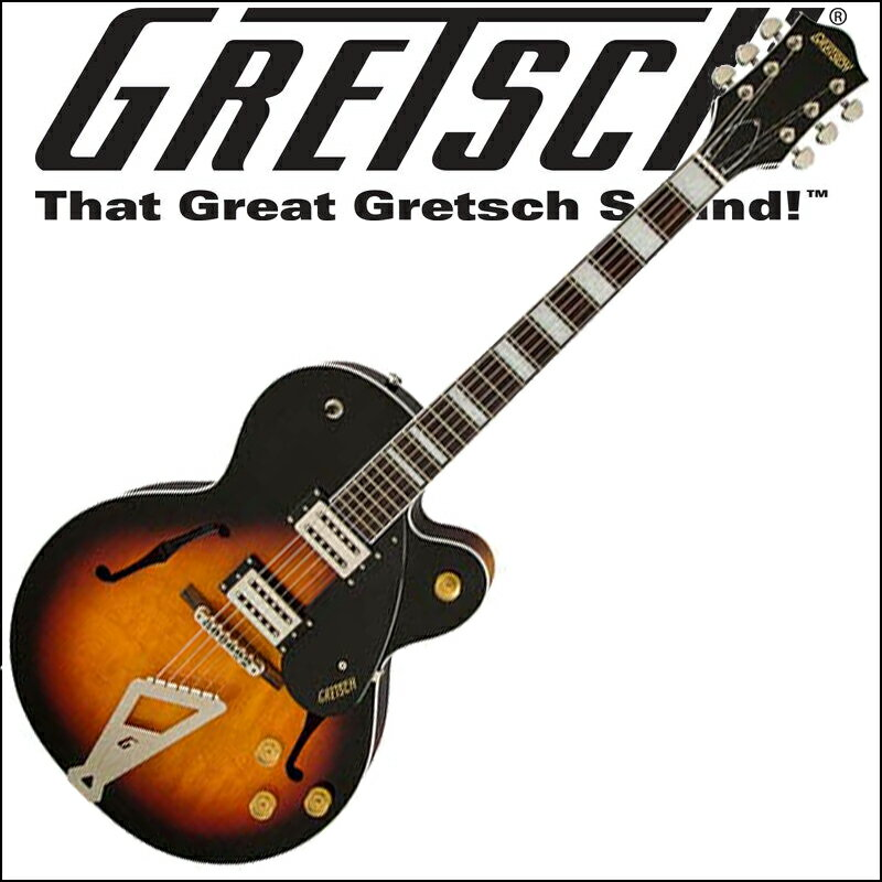 GRETSCH G2420 Streamliner Hollow Body with Chromatic II Tailpiece Aged Brooklyn Burst グレッチ(エレキギター)ストリームライナー・コレクション【smtb-KD】【RCP】:-p5
