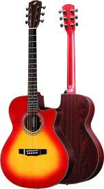 MORRIS R-14 CS:チェリーサンバースト 日本製 エレアコ アコースティックギター モーリス【送料無料】【smtb-KD】【RCP】