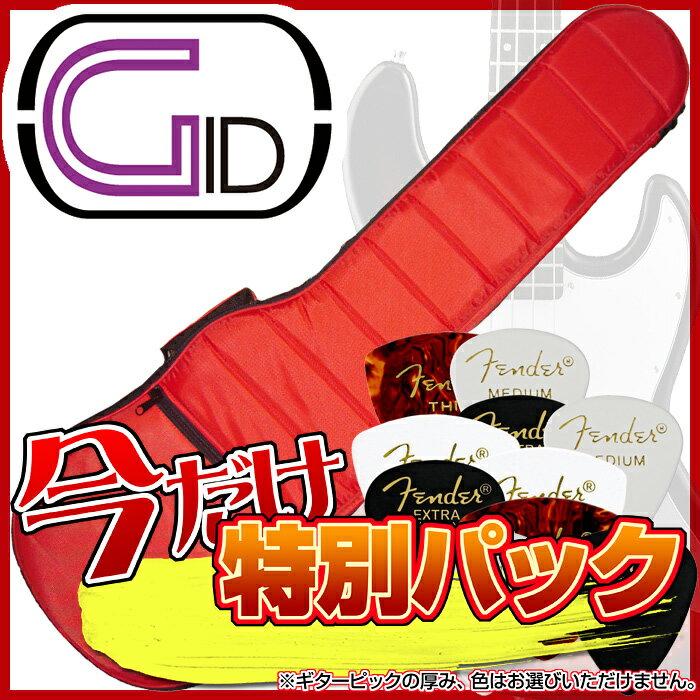【あす楽対応】【スペシャル・パック:FENDERピック10枚をセット】GID(ジッド)軽量モコモコ エレキベース用バッグ「GMK-EB:Red(レッド)」エレキベース用ケース/GMKEB【送料無料】【smtb-KD】【RCP】:-as-p5