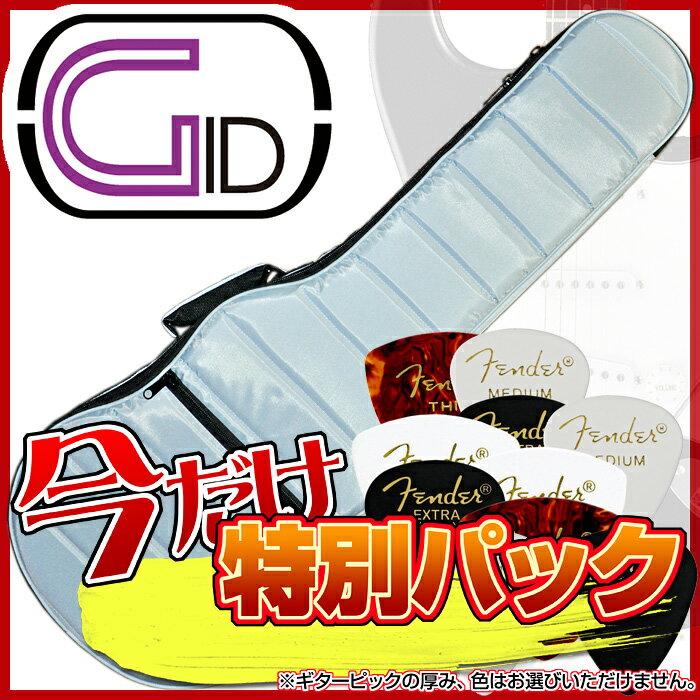 【あす楽対応】【スペシャル・パック:FENDERピック10枚をセット】GID(ジッド)軽量モコモコ エレキギター用バッグ「GMK-EG:Light Blue(ライトブルー)」エレキギター用ケース/GMKEG【送料無料】【smtb-KD】【RCP】:-as-p5