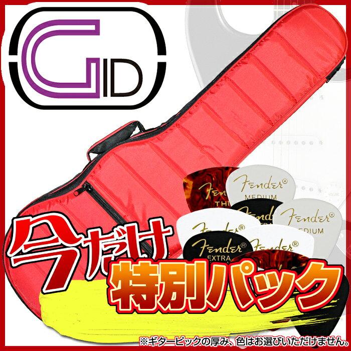 【あす楽対応】【スペシャル・パック:FENDERピック10枚をセット】GID(ジッド)軽量モコモコ エレキギター用バッグ「GMK-EG:Red(レッド)」エレキギター用ケース/GMKEG【送料無料】【smtb-KD】【RCP】:-as-p5