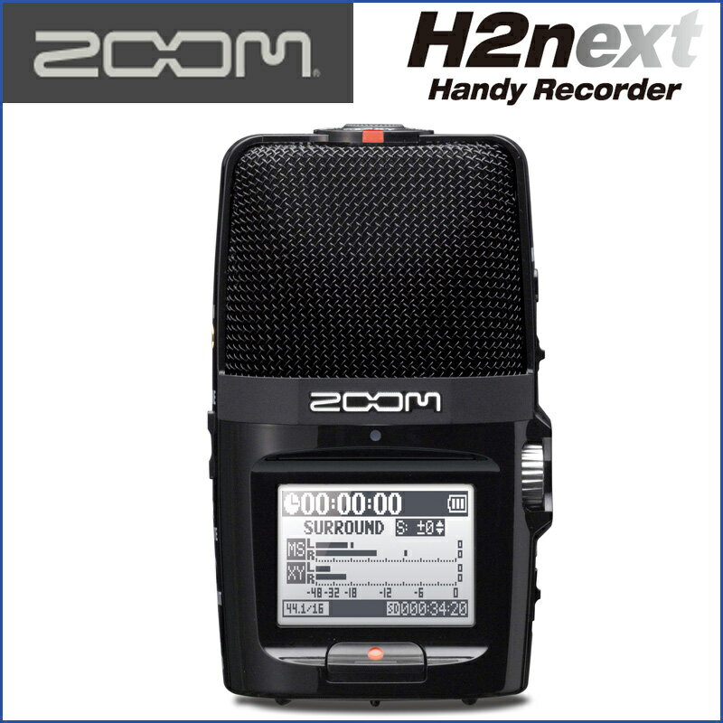 ZOOM(ズーム) H2n Handy Recorder ハンディレコーダー 趣味からビジネスまでマルチに活躍するモバイルレコーダーです。臨場感のある音を録ることができます。【送料無料】【smtb-KD】【RCP】:-p5
