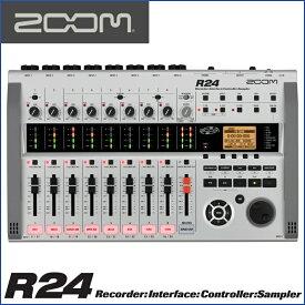 ZOOM(ズーム) R24 Recorder:Interface:Controller: Sampler 24トラックMTRとして、オーディオI/Fとして、DAWコントローラーとして モチーフのスケッチから作曲まで幅広くサポート。【送料無料】