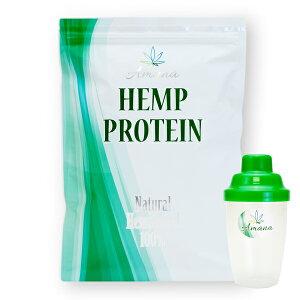 【栄養機能食品】アマナ ナチュラル ヘンプ プロテイン【500g+シェーカー付き】計量スプーン付 カナダ産 無添加 麻の実 飲料 健康 タンパク質 鉄分 アミノ酸 EAA BCAA オメガ3 おいしい 植物性