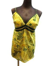エスニックキャミソールマッシュルームプリントエスニック衣料エスニックアジアンファッション