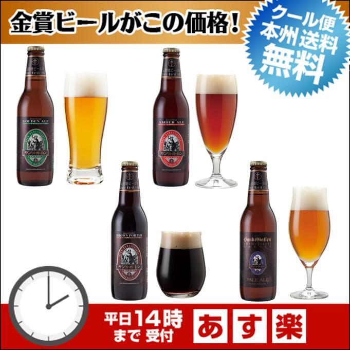 金賞地ビール(クラフトビール)飲み比べ 4種4本 詰め合わせギフト【あす楽:平日14時〆切】【本州送料無料】父の日ギフトシール、内祝いなどのし対応。名入れ可