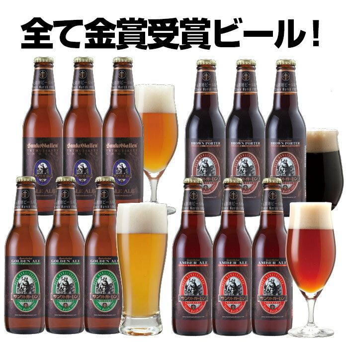金賞地ビール(クラフトビール)飲み比べ 4種12本 詰め合わせギフト【あす楽:平日14時〆切】【本州送料無料】内祝い、お歳暮のし、誕生日ギフトシール対応。名入れ可
