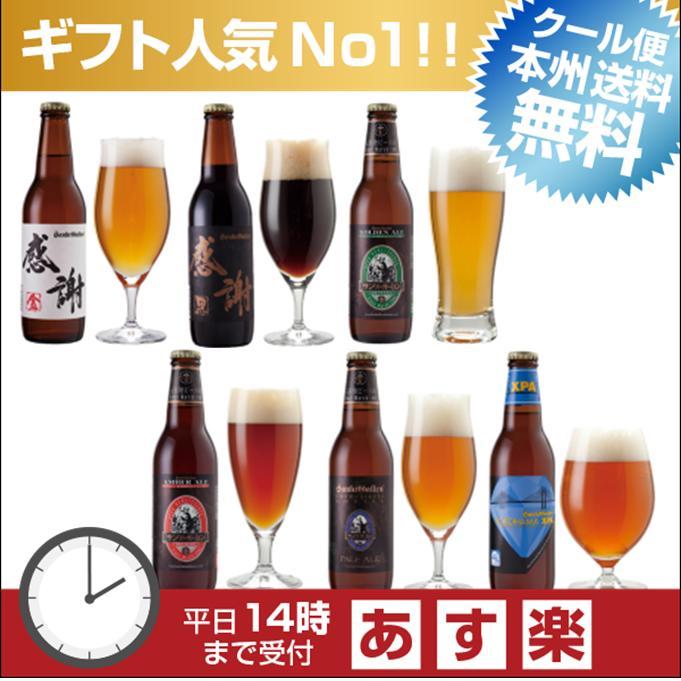 感謝ビール入クラフトビール6種6本飲み比べセット<世界一のIPAビール入>【本州送料無料】【あす楽:平日14時〆切】父の日ギフトシール、内祝いなどのし対応。名入れ可