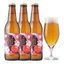 <春限定ビール>本物の桜の花でつくったクラフトビール【サンクトガーレン さくら 3本 詰め合わせ】桜餅のような香りと味わいの地ビール【本州送料無料】【あす楽】内祝い各種のし、ホワイトデー・誕生日シール対応