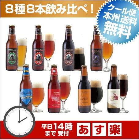 クラフトビール 8種8本 飲み比べセット <秋冬限定アップルシナモンエール、世界一のIPA入>【本州送料無料】【あす楽:平日14時〆切】