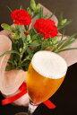 ┣ 本州お届け、母の日間に合います ┫母の日ギフト【鮮赤カーネーション鉢植&クラフトビール4種飲み比べ】地ビールギフト