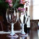 ワイン 【有田浪漫グラス ワイングラス(赤濃唐草)】プレゼント メーカー直送 有田焼 ワイングラスおしゃれ