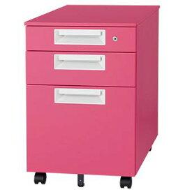 インサイドワゴン キャスター付き ピーチ ピンク Garage家具 カラー マルシェワゴン SH-046SC-3 代引き可 410740
