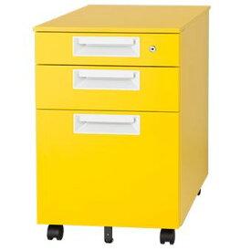 インサイドワゴン キャスター付き レモン イエロー Garage家具 カラー マルシェワゴン SH-046SC-3 代引き可 410742