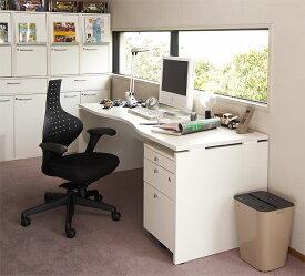 ■納期約2週間:Garage M型タイプ W1800×D700 ホワイト AF-187MH デスク パソコンデスク オフィスデスク 木製 シンプル 412629