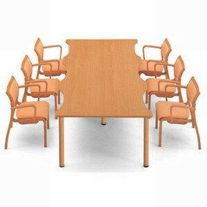 AICO 人に優しいミーティング・リフレッシュテーブル 波型 W2400×D1200 NST-2412 (代引決済不可商品)