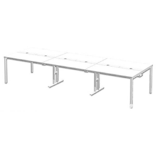 セパレート天板のセットテーブル W3000×D1200mm OAミーティングテーブルMP-3012SS B100×3 代引き可 415629