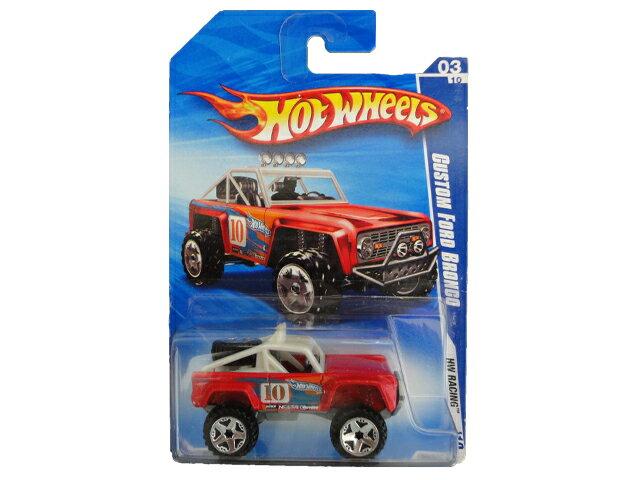 HotWHeeLs Custom Ford Bronco Red ホットウィールズ ミニカー フォード ブロンコ