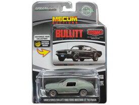 GREENLIGHT MECUM AUCTIONS UNRESTOREDBULLITT 1968 FORD MUSTANG GT FASTBACK グリーンライト ミニカー