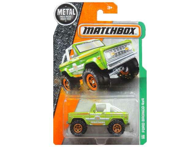 【NEW】MATCHBOX MBX EXPLORERS FORD BRONCO 4×4 マッチボックス ミニカー フォード ブロンコ グリーン