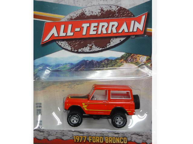 【Recommend】GREENLIGHT ALL-TERRAIN 1977 FORD BRONCO red グリーンライト ミニカー フォード ブロンコ