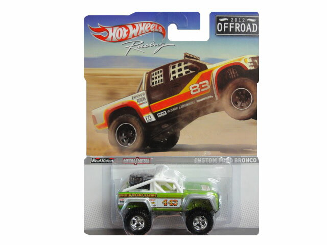 HotWHeeLs Racing Custom Ford Bronco Green ホットウィールズ ミニカー  フォード ブロンコ