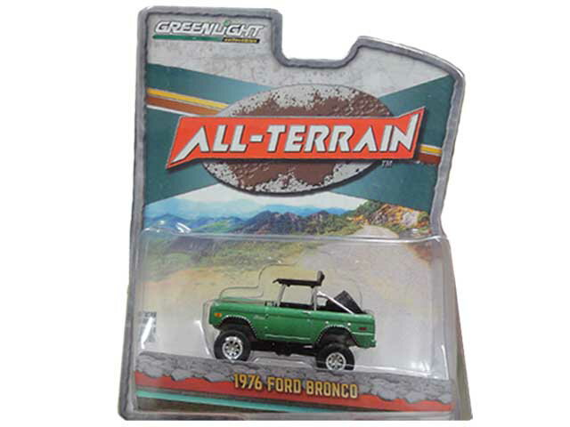 GREENLIGHT Collectibles ALL-TERRAIN 1976 FORD BRONCOグリーンライト ミニカー フォード ブロンコ グリーン
