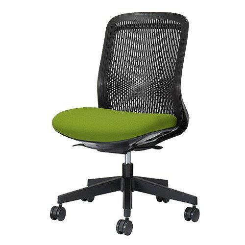 PLUS プラス Try トライ パソコンチェア PCチェア オフィスチェア ワークチェア ビジネスチェア メッシュチェア メッシュチェアー フィット メッシュ フィット 放熱 チェア チェアー 椅子 いす イス ローバック 肘なし イエローグリーン KC-TR60SEL