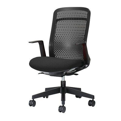 PLUS プラス Try トライ パソコンチェア PCチェア オフィスチェア ワークチェア ビジネスチェア メッシュチェア メッシュチェアー フィット メッシュ フィット 放熱 チェア チェアー 椅子 いす イス ハイバック 肘付き ブラック 黒 KB-TR61SEL