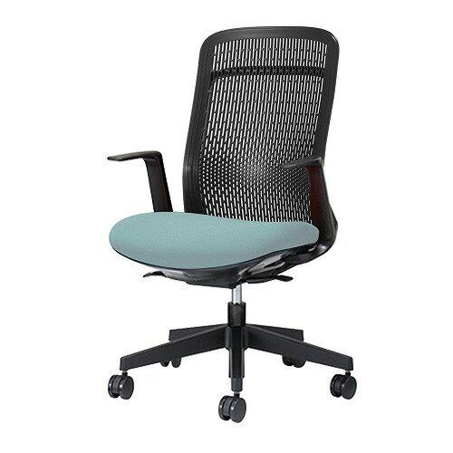 PLUS プラス Try トライ パソコンチェア PCチェア オフィスチェア ワークチェア ビジネスチェア メッシュチェア メッシュチェアー フィット メッシュ フィット 放熱 チェア チェアー 椅子 いす イス ハイバック 肘付き スカイブルー KB-TR61SEL
