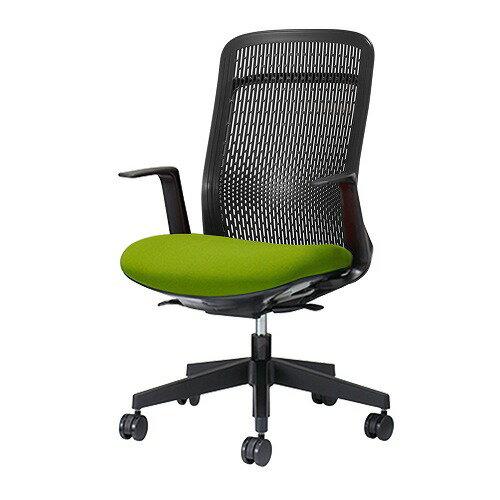 PLUS プラス Try トライ パソコンチェア PCチェア オフィスチェア ワークチェア ビジネスチェア メッシュチェア メッシュチェアー フィット メッシュ フィット 放熱 チェア チェアー 椅子 いす イス ハイバック 肘付き イエローグリーン KB-TR61SEL