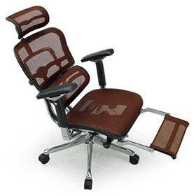 Ergohuman エルゴヒューマン プロ ハイブリット機能 オットマン内臓 足置き付き パソコンチェア PCチェア オフィスチェア ビジネスチェア ワークチェア チェア チェアー 椅子 イス いす オフィス 高機能 メッシュ 調節機能 橙 オレンジ EHP-LPL-HB KM13