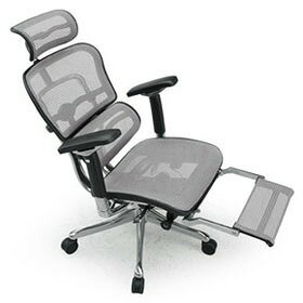 Ergohuman エルゴヒューマン プロ ハイブリット機能 オットマン内臓 足置き付き パソコンチェア PCチェア オフィスチェア ビジネスチェア ワークチェア チェア チェアー 椅子 イス いす オフィス 高機能 メッシュ 調節機能 白 ホワイト EHP-LPL-HB KM16