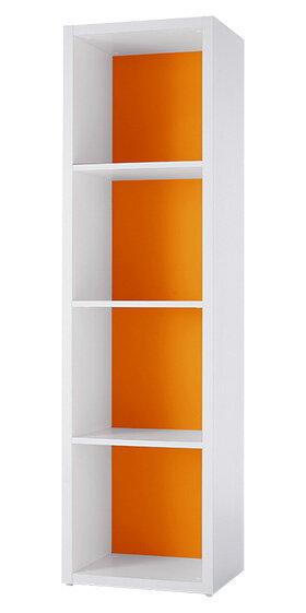 Garage ガラージ 収納庫 GR カラーボックス カラボ 収納ボックス 収納棚 収納ラック シェルフ 本棚 飾り棚 おしゃれ ラック オープン収納 収納 整理 整頓 片付け ボックス 大容量 選べる 隙間 組み替え 4段 マンダリンオレンジ 橙 GR-0416