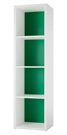 Garage ガラージ 収納庫 GR カラーボックス カラボ 収納ボックス 収納棚 収納ラック シェルフ 本棚 飾り棚 おしゃれ ラック オープン収納 収納 整理 整頓 片付け ボックス 大容量 選べる 隙間 組み替え 4段 パセリグリーン 緑 GR-0416