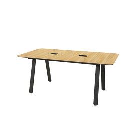 ダイニングワークテーブル( ダイニングテーブル デザインテーブル テーブル デスク ワークテーブル フリーアドレスデスク ミーティングテーブル フリーデスク ミーティングテーブル 会議テーブル 会議用テーブル ダイニング おしゃれ 幅 1800mm 180cm 木目) 在宅