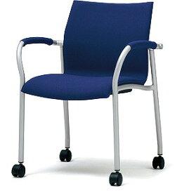 PLUS プラス ミーティングチェア チェア 会議用チェア 4本脚 スタンダード シンプル 会議室 ミーティングルーム ミーティング 会議 ルーム 打ち合わせ 肘つき 肘付き キャスター付き 椅子 いす イス スタッキング