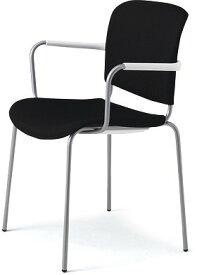 PLUS プラス フィトナ ミーティングチェア ミーティング室 会議椅子 会議用椅子 スタッキングチェア 打ち合わせ 会議用チェア ミーティングルーム 持ち運び 会議室 談話室 椅子 イス チェア chair スタッキング 4本脚 肘付き