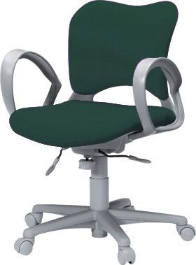 PLUSプラスオーバルチェアOCチェアパソコンチェアオフィスチェアデスクチェア事務イス学習チェア椅子イスチェアchair前傾姿勢キャスター付き疲れにくいループ肘付きローバックカーペット用キャスター青ブルーOC-Z06SLN-O