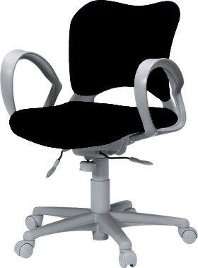 PLUSプラスオーバルチェアOCチェアパソコンチェアオフィスチェアデスクチェア事務イス学習チェア椅子イスチェアchair前傾姿勢キャスター付き疲れにくいループ肘付きローバックカーペット用キャスター