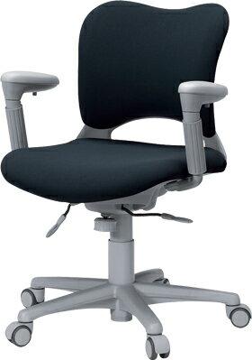 PLUSプラスオーバルチェアOCチェアパソコンチェアオフィスチェアデスクチェア事務イス学習チェア椅子イスチェアchair前傾姿勢キャスター付き疲れにくいアジャスト肘付きローバックフローリング用キャスター