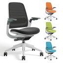 Series1 チェア フレームホワイト アジャスタブルアーム ( オフィスチェア ワークチェア 事務チェア 事務椅子 メッシ…