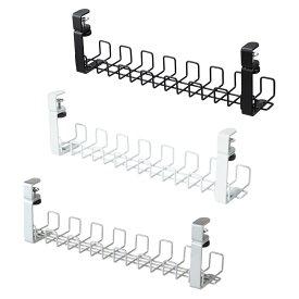ワイヤーケーブルトレー Lサイズ(Garage ケーブルトレー ケーブルホルダー クランプ式 まとめる ケーブル収納 配線 収納 配線収納 配線整理 整理 整頓 隠し ケーブル 電源タップ コード すっきり デスク ケーブル整理 )
