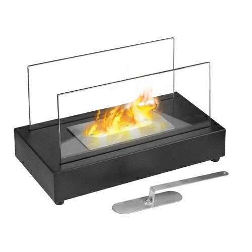 ガレージ・ゼロ バイオエタノール暖炉 長方形 ブラック/黒(屋内・屋外両用)/卓上暖炉/ファイアープレイス/卓上エタノール暖炉