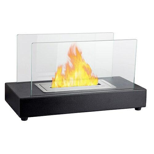ガレージ・ゼロ バイオエタノール暖炉 長方形 ブラック/黒(2層バーナー/屋内・屋外両用)/卓上暖炉/ファイアープレイス/卓上エタノール暖炉